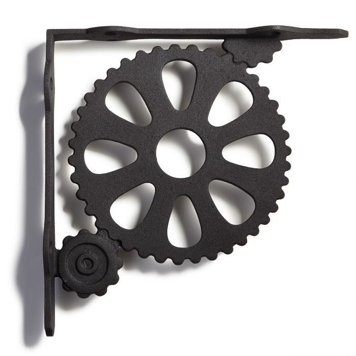 gears cast iron shelf bracket
