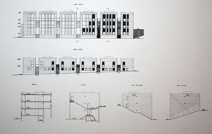 Fernand Pouillon | Climat de France | La plaza de las 200 columnas | Place des 200 colonnes | Argel, Argelia | 1955-1957