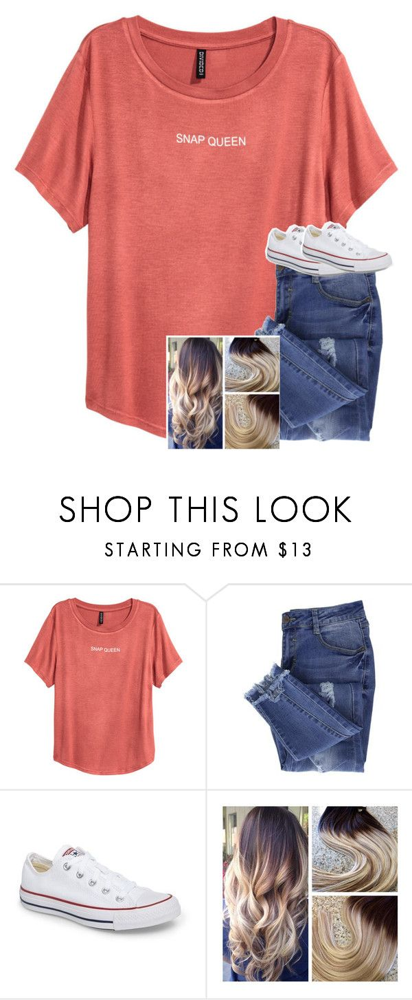 """Untitled #6805"" by laurenatria11 ❤ liked on Polyvore featuring Essie and Converse"