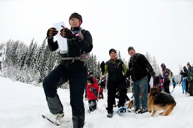 Snowshoe orienteering - Kootenay Orienteering Club