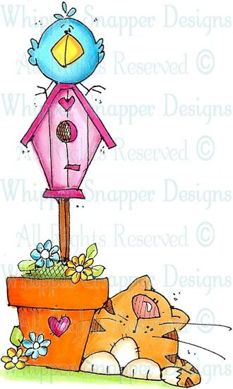 No Cats Allowed - Cats - Animals - Rubber Stamps - Shop