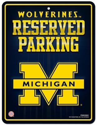 Michigan Wolverines Metal Parking Sign