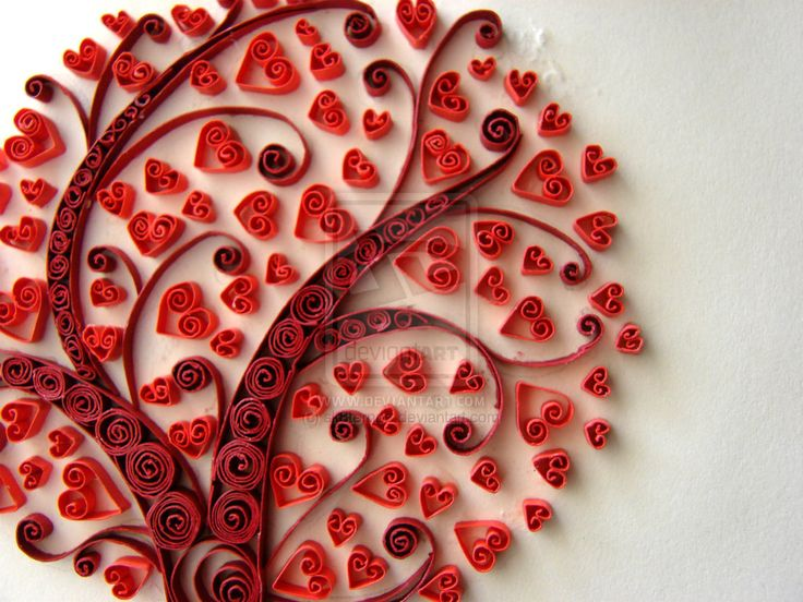 Red-hearted tree by ~sk8ternoz on deviantART