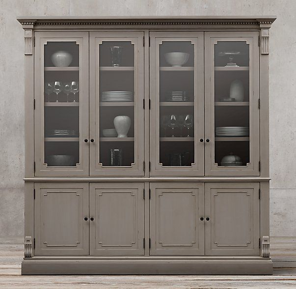 James Glass Sideboard HutchEvoking The Architectural Classicism Of Turn Century Design St