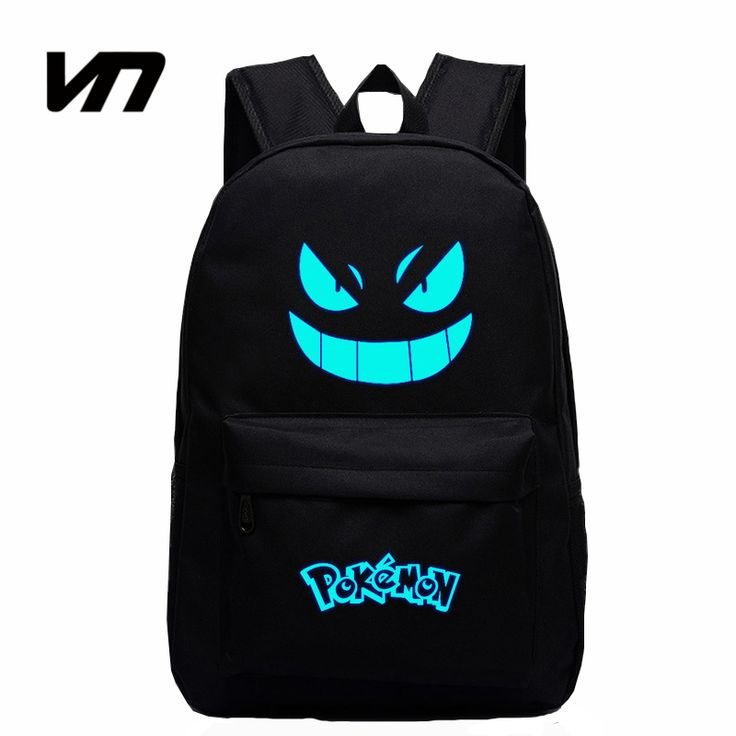 2016 Hot Sale Galaxy Luminous Printing Backpack Pokemon Gengar Backpacks Emoji Backpack School Bags For Teenagers Men's Backpack ** Visit the image link for more details.