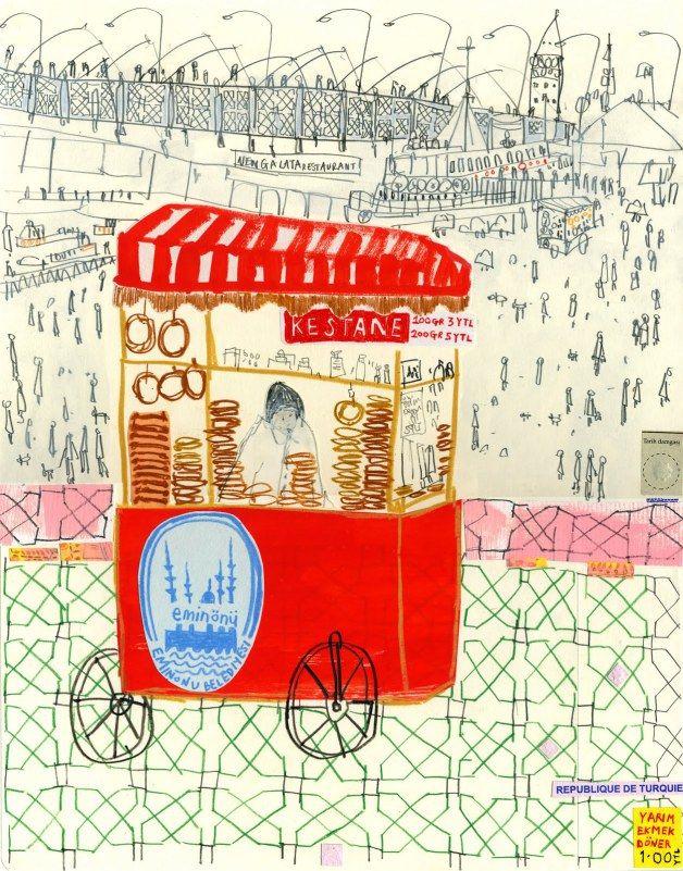 Eminonu trolley seller Istanbul