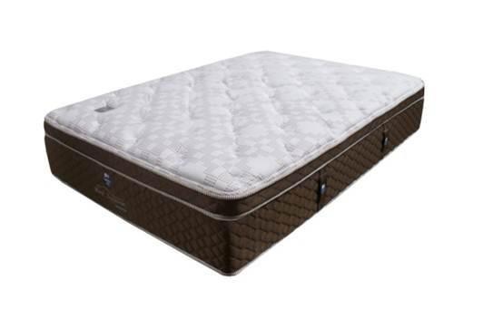 #Colchón Santorini con sistema Never Turn. La molestia de voltear su colchón quedó en el pasado, fabricado con Tela de Tejido de Punto, un diseño exclusivo que permitirá una mayor frescura a la hora de dormir.