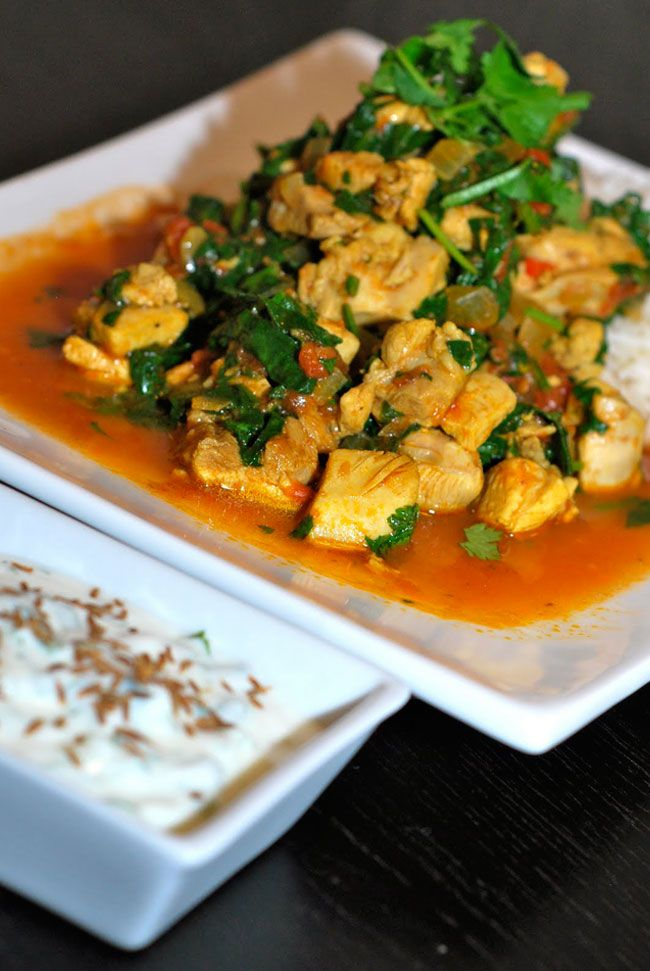Fragrant Chicken and Spinach Curry - Bill Granger