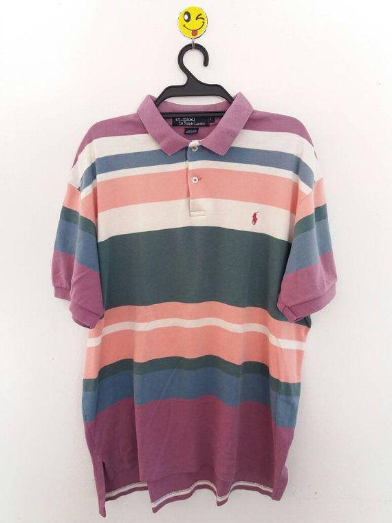 Polo by Ralph Lauren colour striped polo pattern mens polo