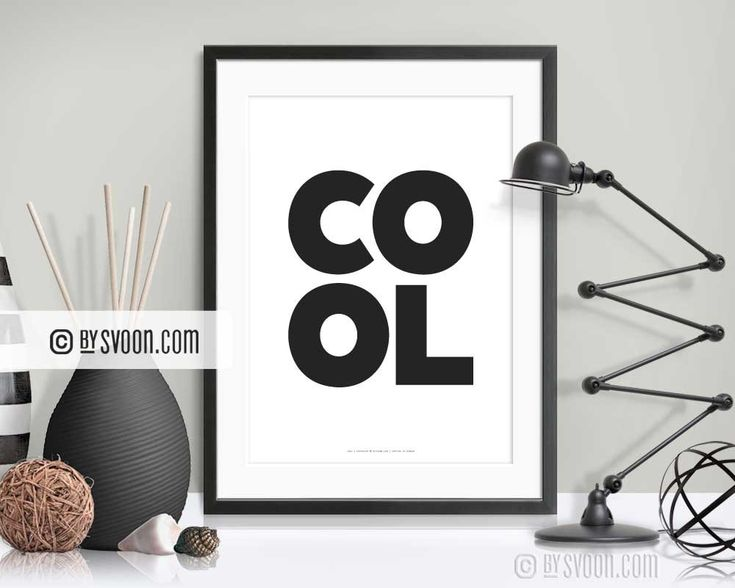 Excited to share the latest addition to my #etsy shop: COOL Print, Bold Letters, Minimal Wall Art, Cool Typography Print, Text Print, Black & White, High Quality Print, Modern Minimal Decor Gift http://etsy.me/2FGTcFr