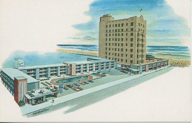 Seaside Motel And Tower Atlantic City Postcard 1950s Seaside Hotel City Postcard Seaside Motel