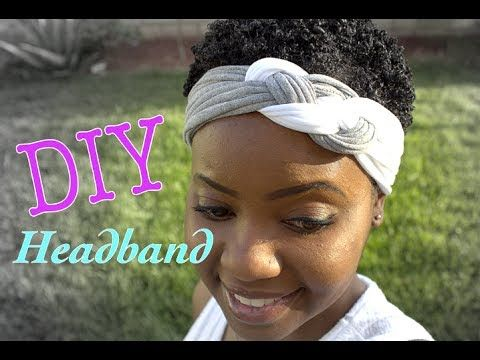 DIY headband created from T-shirts Very simple - no sewing required.