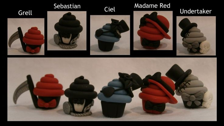 Black Butler Cupcake Cast by ~fluffytigerpaw on deviantART    ~{BLACK BUTLER CUPCAKES! = BEST. CREATION. EVER!}~