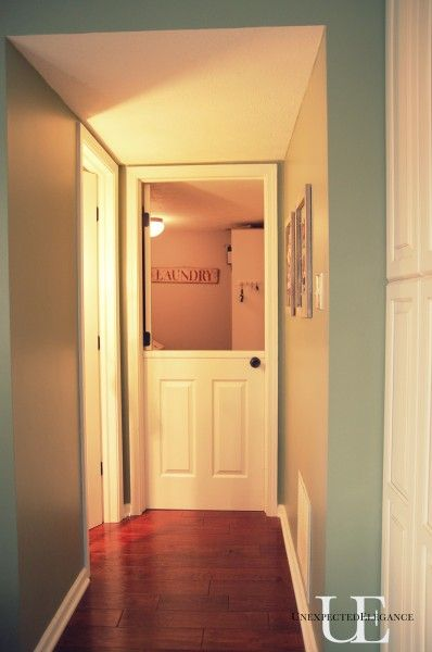 half door tutorial. Perfect for kids room to keep them in to play, but still have a close eye on them!