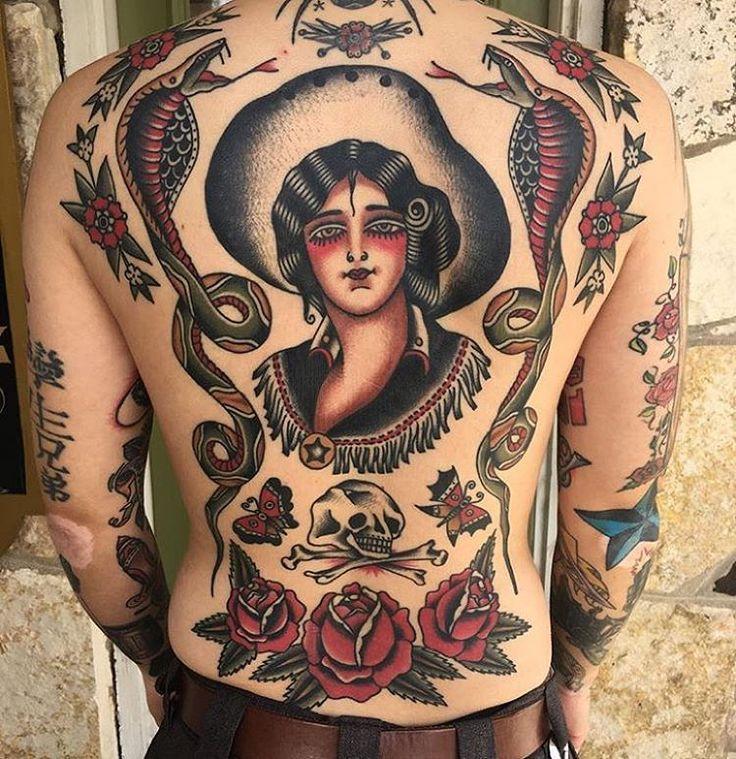 OLDLINES — Healed back by @ivanantonyshevtattoo  #tattoo...