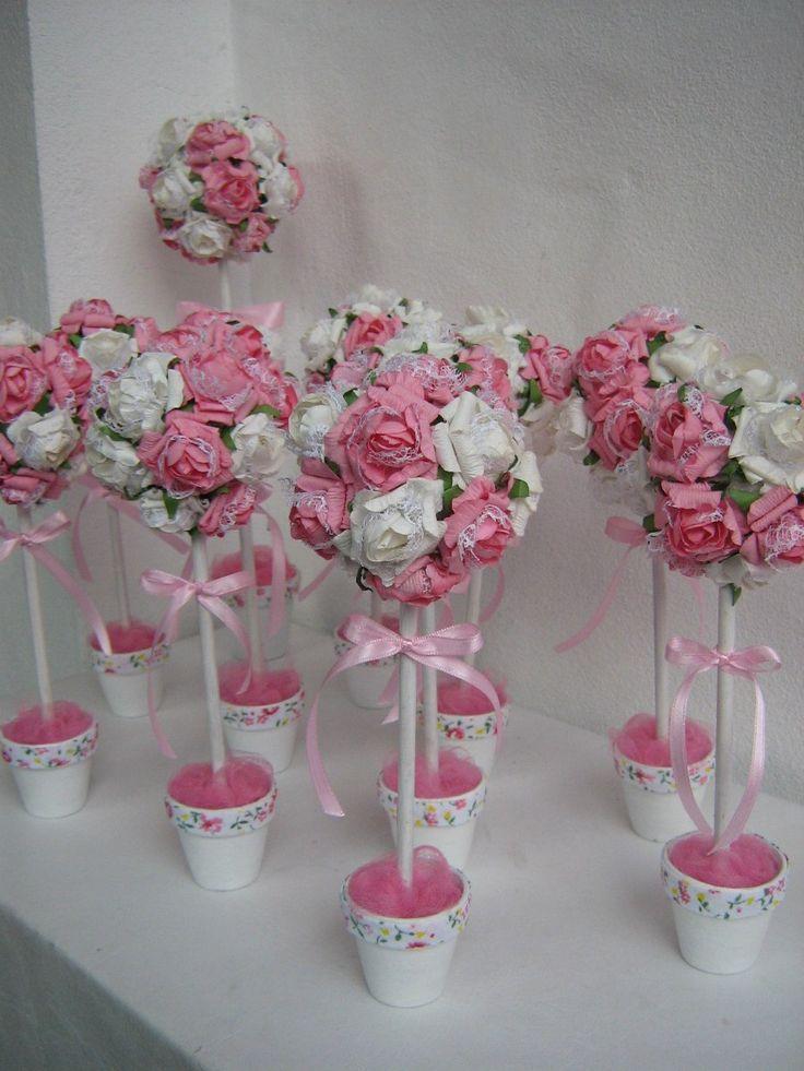 Arbolitos Topiarios Con Flores - $ 84,00 en MercadoLibre