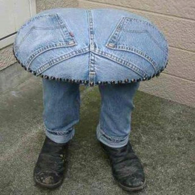 Thought this would be a great use for old jeans