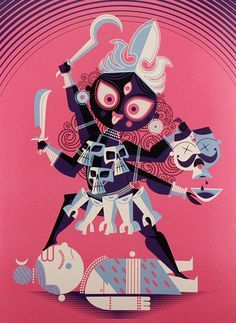 ":: Kali by Sanjay Patel : from his book ""The Little Book of Hindu Deities"" ::"