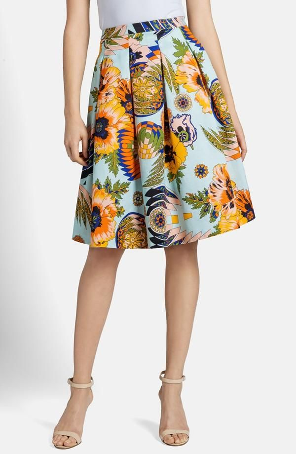 Adding flare and florals to the spring wardrobe | Print Pleated Skirt