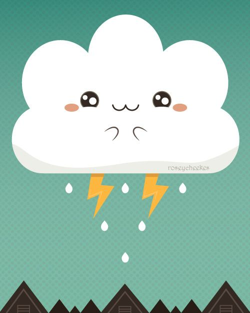 Cloudy Accident | by roseycheekes | via Flickr | #ilustração #illustration #wallpaper #background