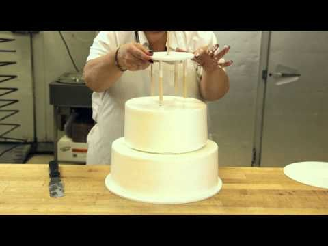 How To Make A Wedding Cake Stacking 3 Tier Part 2