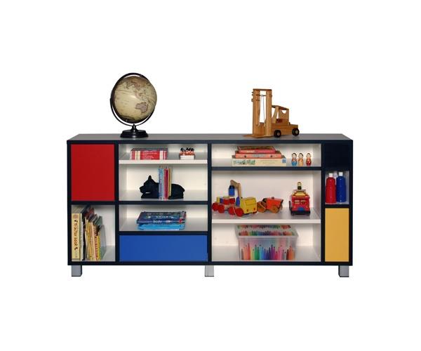 Mondrian storage to inspire little artists.