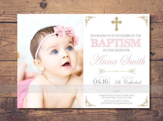 Best 25+ Baptism invitations girl ideas on Pinterest   Baptism ...