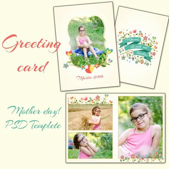 5x7 Postcard Template Photoshop Lovely Items Similar To 5x7 In Mother S Day Card Shop In 2020 Greeting Card Template Birthday Card Template Card Template