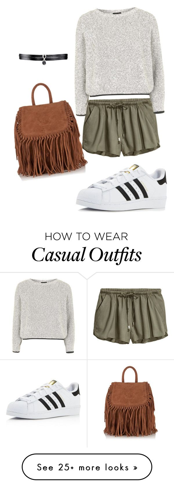 """Casual outfit for grey lovers💫"" by greyblack on Polyvore featuring Topshop, Superdry, adidas and Fallon"