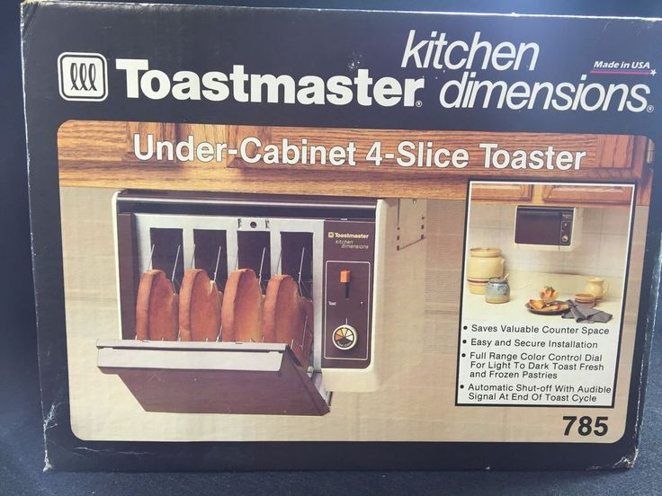 VTG New Toastmaster Under Cabinet 4 Slice Toaster 785 Kitchen ...