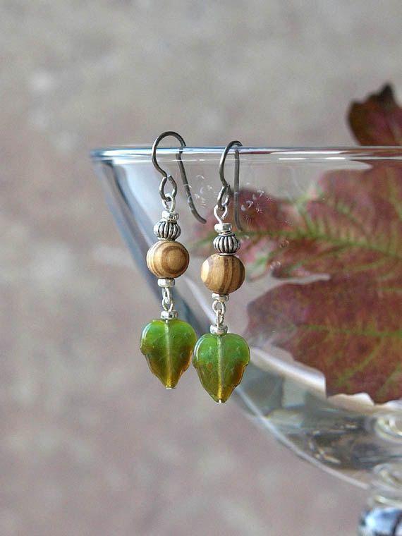woodland earrings by HandmadeEarringsUK on etsy