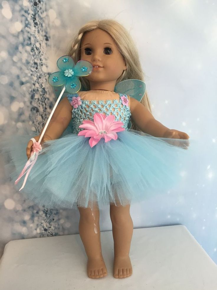 "Beautiful Blue & Pink  tutu dress American Girl Doll clothes fits all 18"" dolls"