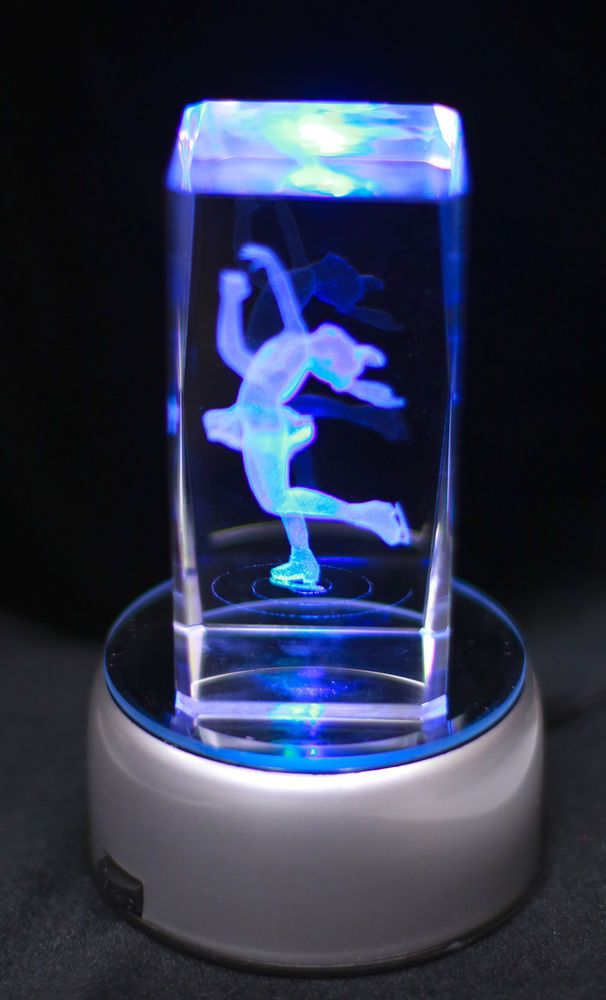 Details About New Etched Figure Skater Layback Spin Night