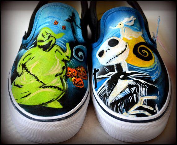 Personalizzato verniciato Vans dipinta scarpe da di PricklyPaw