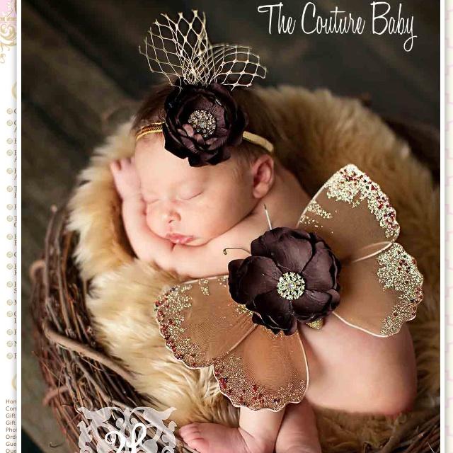 Emerson's newborn pics outfit.  thecouturebaby.com