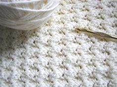 Easy blanket stitch...I cannot wait to try this. Directions:This easy stitch is perfect for an afghan or blanket. It is just sets of 3 stitches, one single crochet and two doubles. Once you get into the hang of it, you can do it in your sleep! Use it fo.