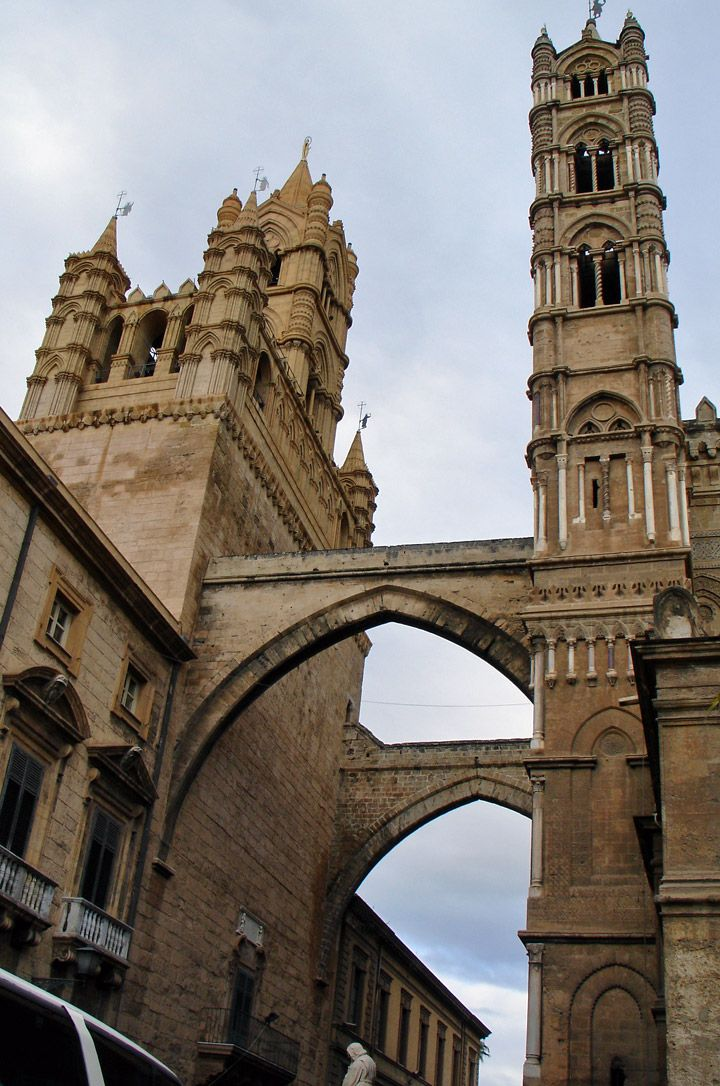 Norman style architecture in Palermo, Province of Palermo, Sicily region, Italy