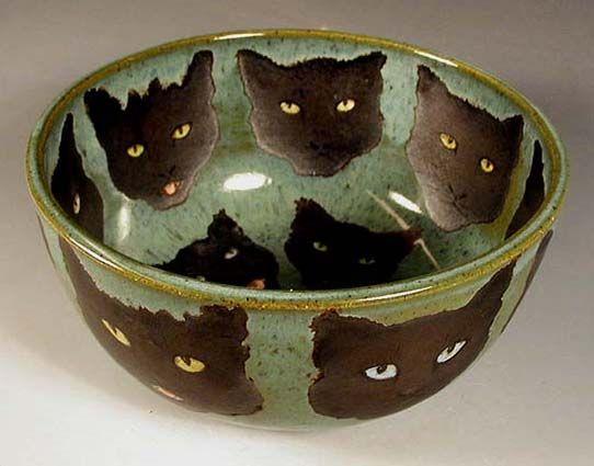 Black Cats bowl Nan Hamilton