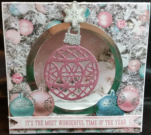 Tent Card - using Kaisercraft Silver Bells DSP and Stampin' Up! Delicate Ornaments Thinlits Dies