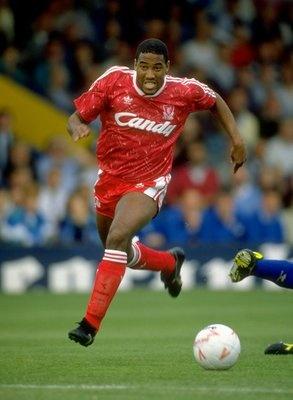 John Barnes in full flight back in 1990 #LFC #Legend