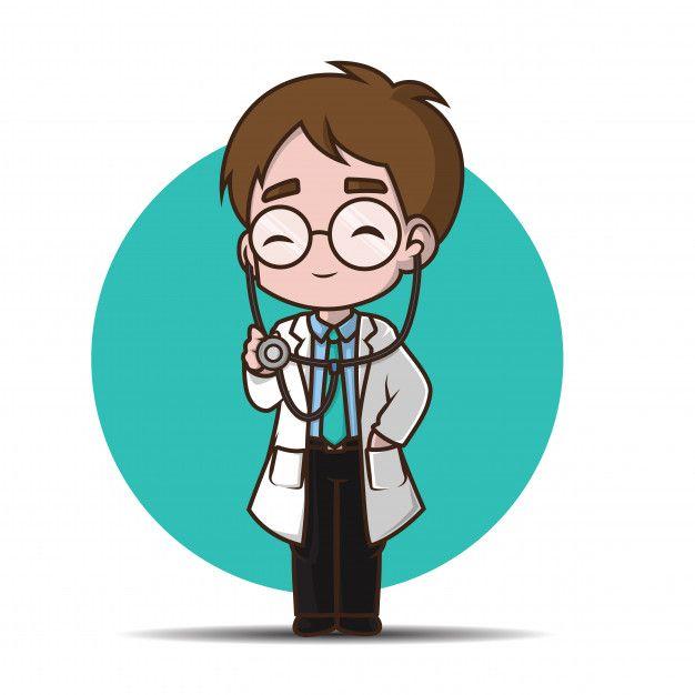 Cute Cartoon Character Doctor Premium Vector Freepik Vector People Baby Medical Man Cute Cartoon Characters Iron Man Art Paint City Cartoon