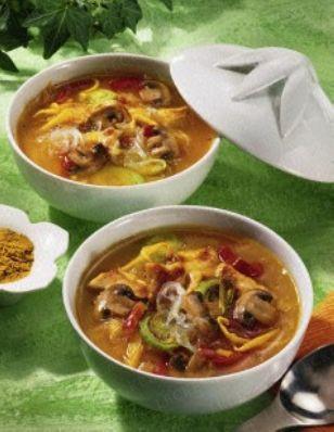 Sauer-scharfe Thai-Suppe