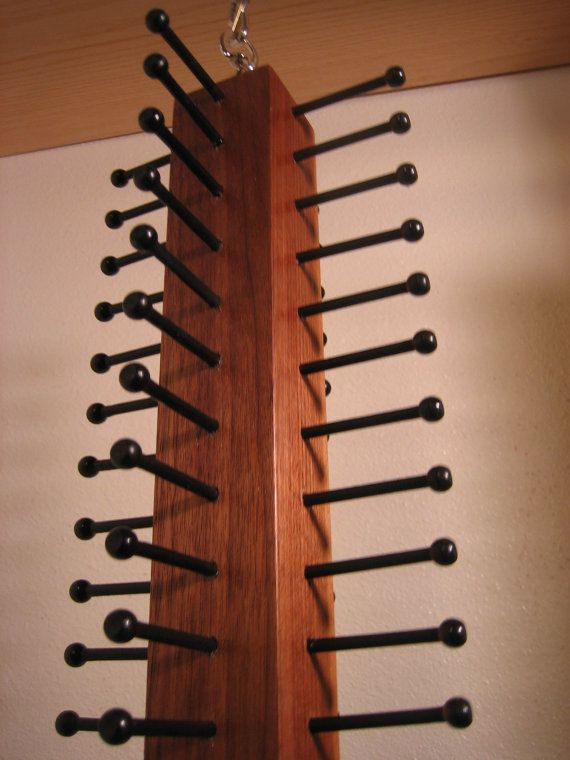 Spinning Tie Organizer by HartmanTieRacks on Etsy awesome way to organize ties. Space saver many ties hang scarves
