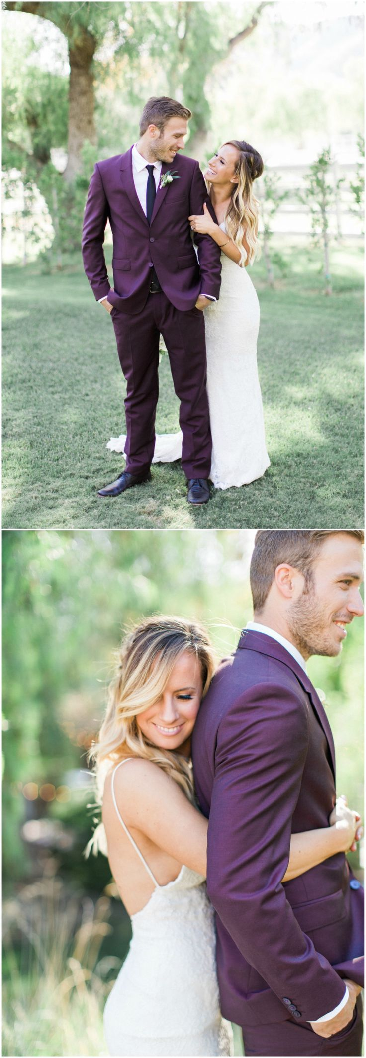 Plum-colored suit, menswear, purple, groom fashion // Lucas Rossi Photography