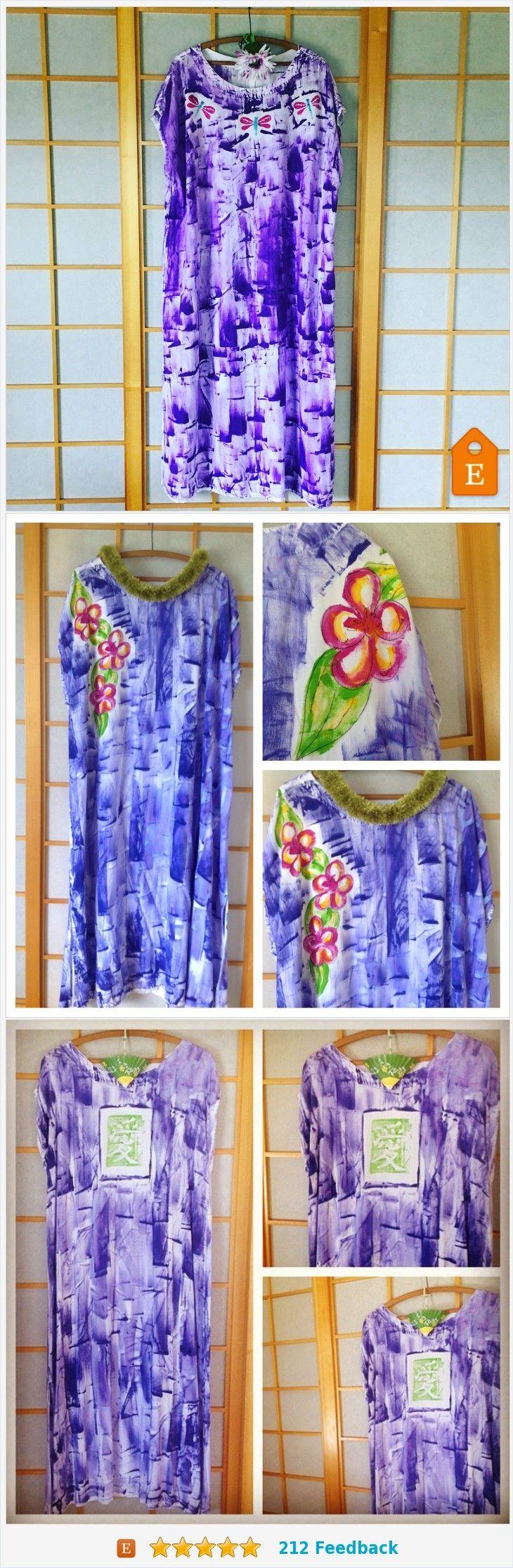 Awesome Hawaiian Style Dresses Resort Wear - Muumuu - Rayon Maxi Dress - Hand Painted Dress #etsyseller #etsyha... Check more at http://24store.gq/fashion/hawaiian-style-dresses-resort-wear-muumuu-rayon-maxi-dress-hand-painted-dress-etsyseller-etsyha/