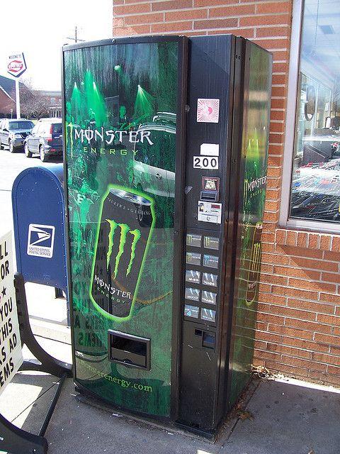 Monster Energy Drink Vending Machine by The Upstairs Room, via Flickr  10