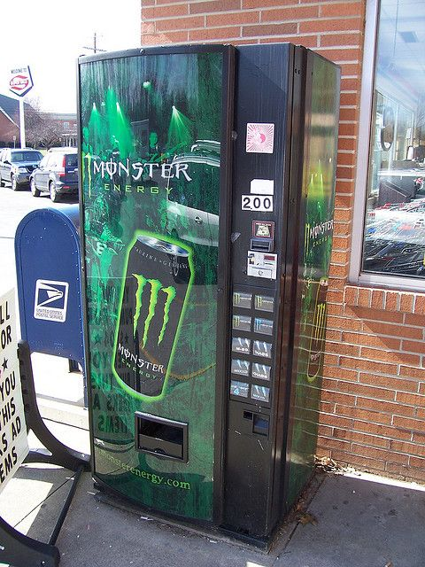 Monster Energy Drink Vending Machine by The Upstairs Room, via Flickr  10