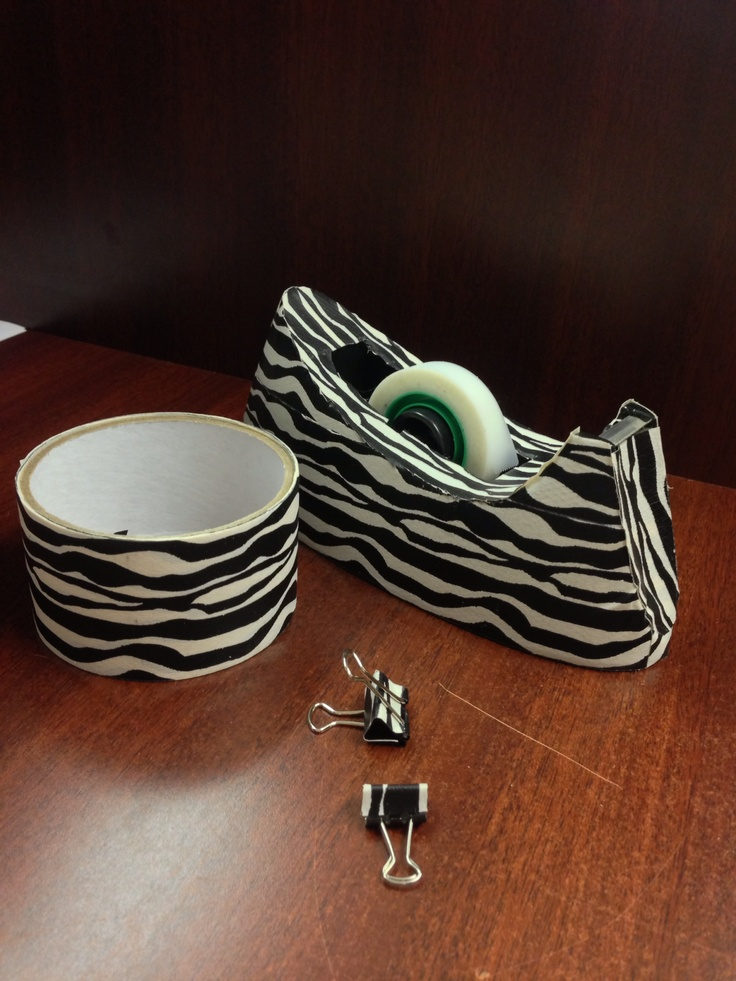 Printed Duct Tape And A Few Of My Office Supplies!
