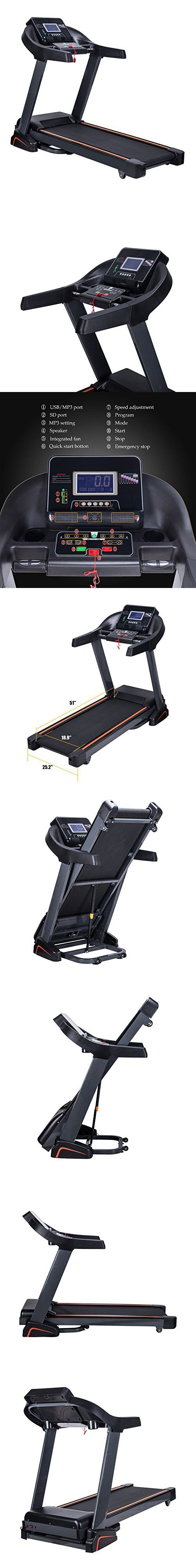 Pinty 2.5HP Foldable Treadmill Extra Wider, MP3 Compatible, BMI Calculator, Fitness Equipment for Homes, Offices, Gyms