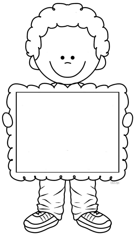 Nene con cartel